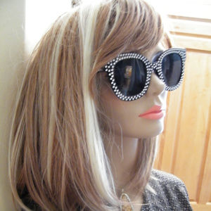 Accessories - Nwot Sunglasses Cateye Black Black rhinestone look